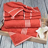 Bedford Home Rio 8 Piece  Cotton Towel Set - Brick