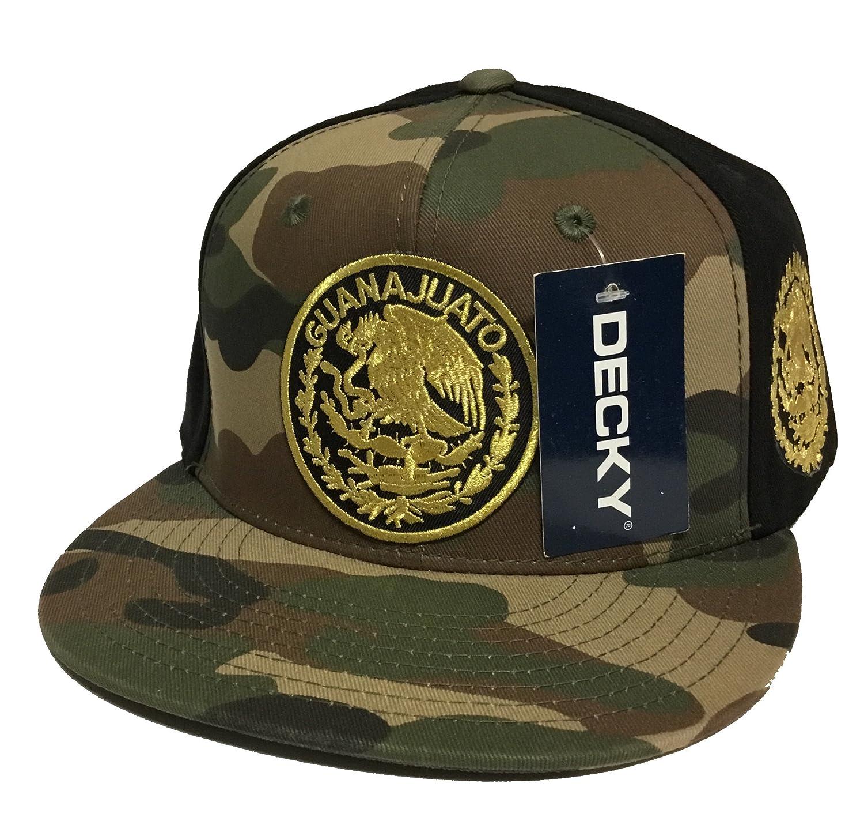 7b8a0aeec5c MEXICO Guanajuato Logo Federal HAT 2 Logos CAMO Black Snapback at Amazon  Men s Clothing store