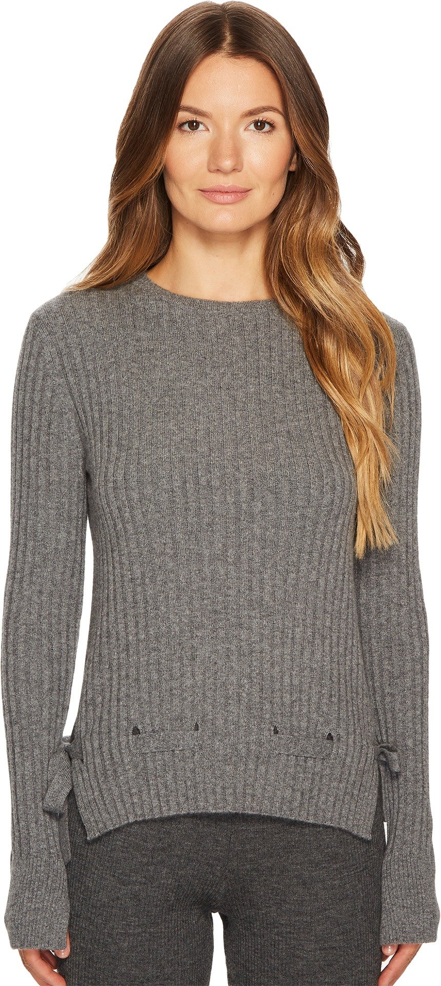 Cashmere In Love Women's Veda Pullover with Belt Mid Grey Large
