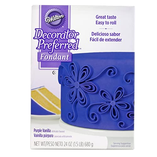 Wilton Decorator Preferred Purple Fondant, 24 oz. Fondant Icing