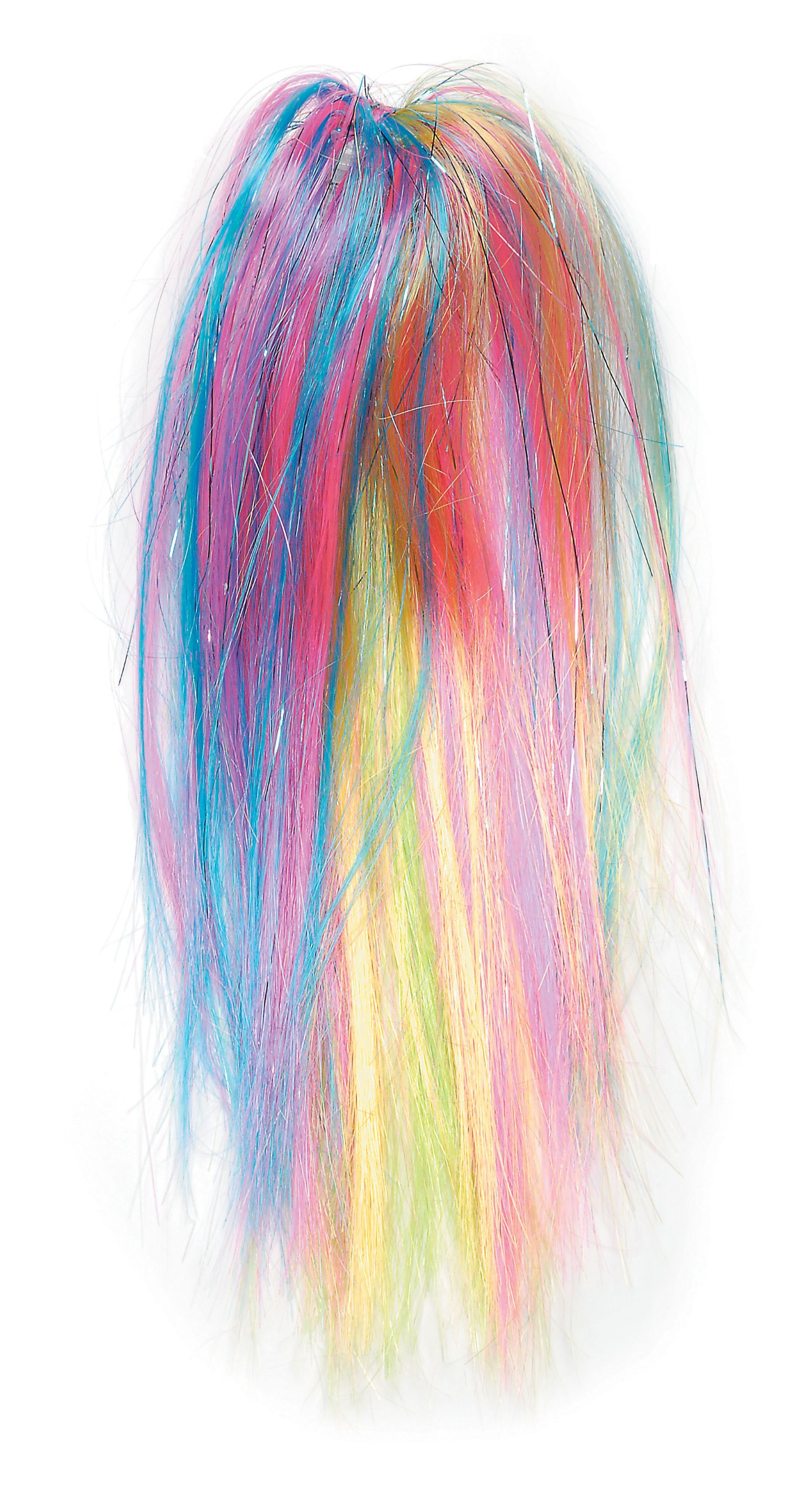 WGI Rainbow Ponytail Hair Extensions, 2 Extensions