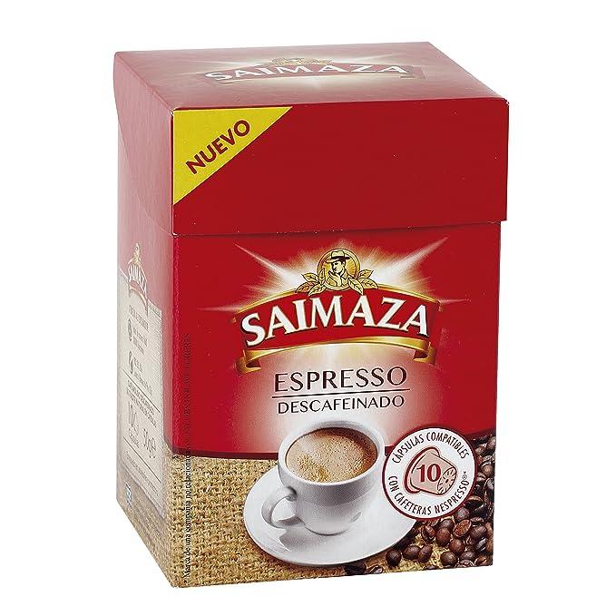 Saimaza Descafeinado - Café espresso, 1 pack de 10 cápsulas