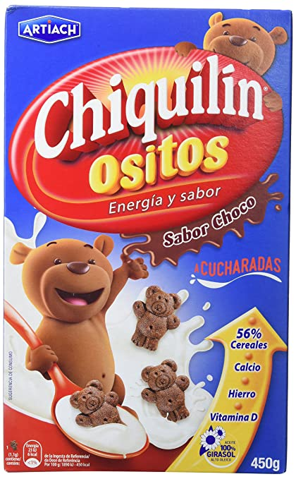 Artiach Chiquilín Ositos Galletas de Cereales - Chocolate - 500 gr ...