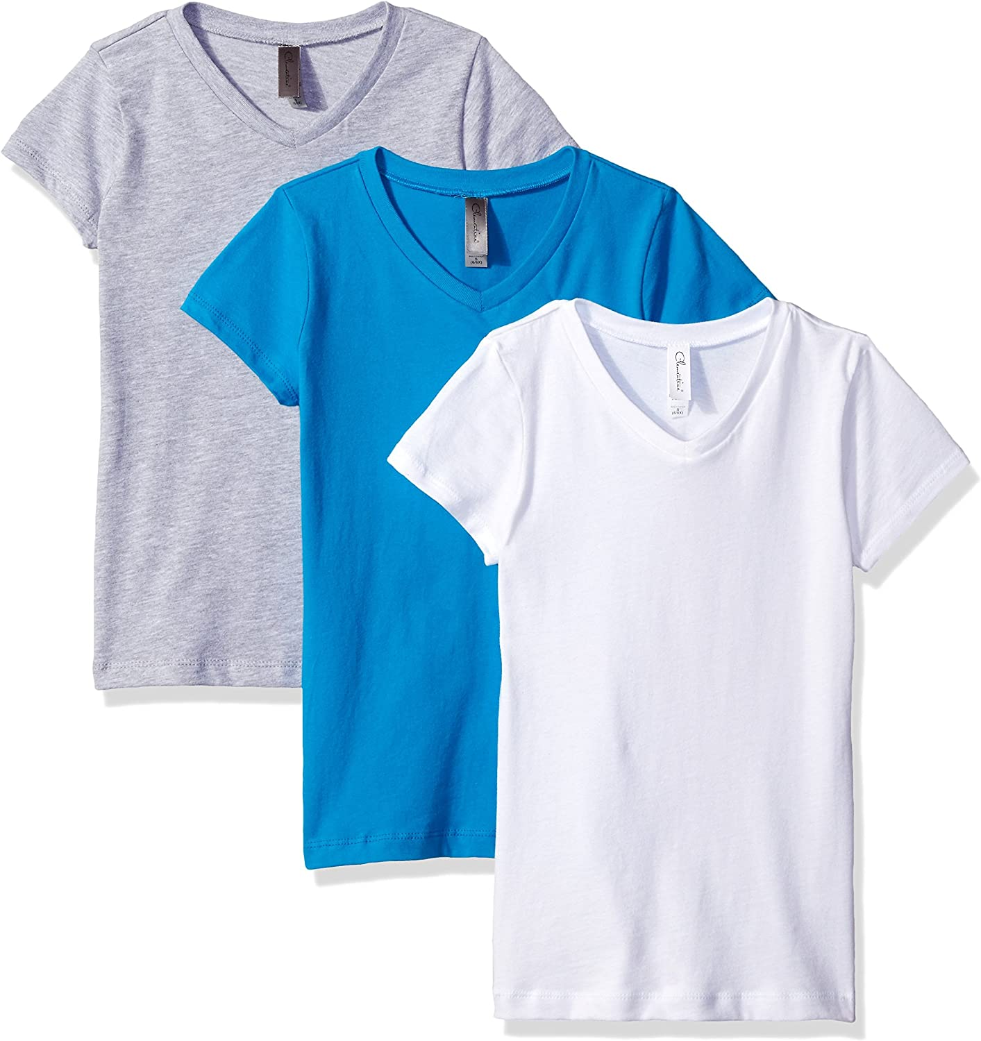 Clementine Apparel Girls Everyday V-Neck Tee 3-Pack