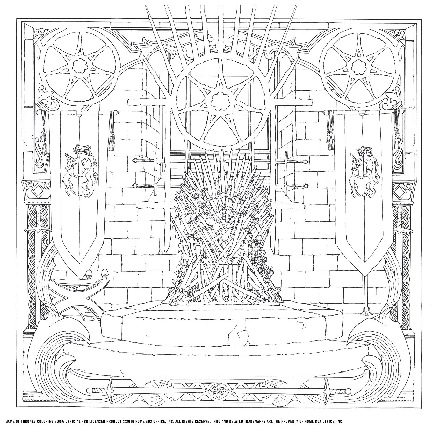 hbos game of thrones coloring book hbo 9781452154305 amazoncom books - Game Of Thrones Coloring Book
