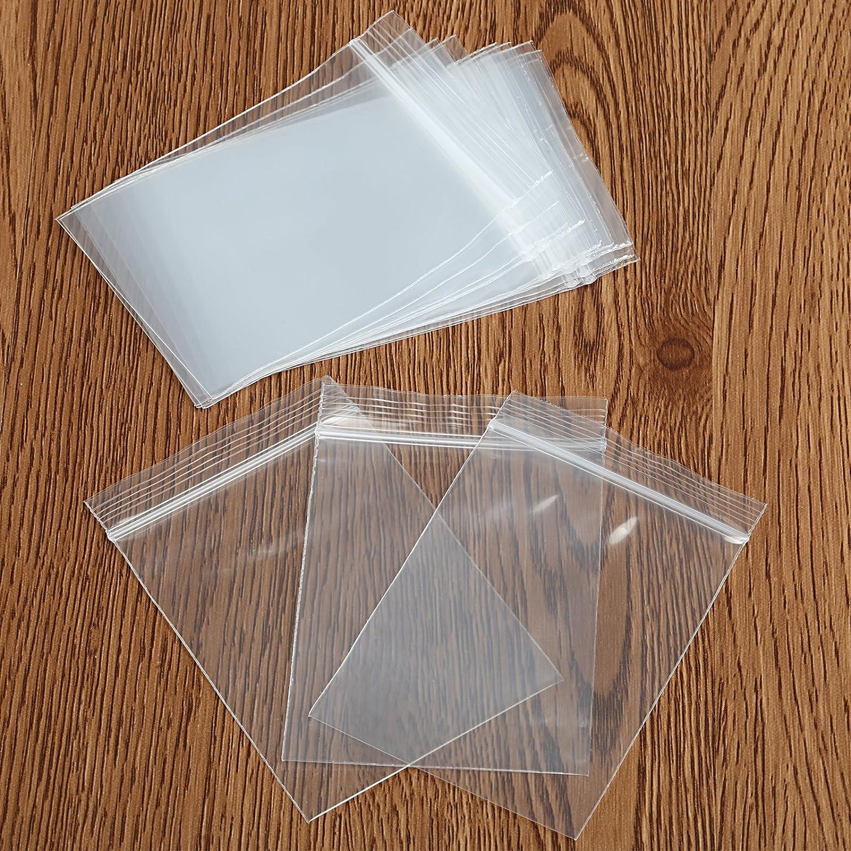 naler 200pcs bolsas de pl/ástico con cierre herm/ético 5/CM X 7/cm fuerte reutilizable con cremallera Lock bolsas de almacenamiento joyas encontrar