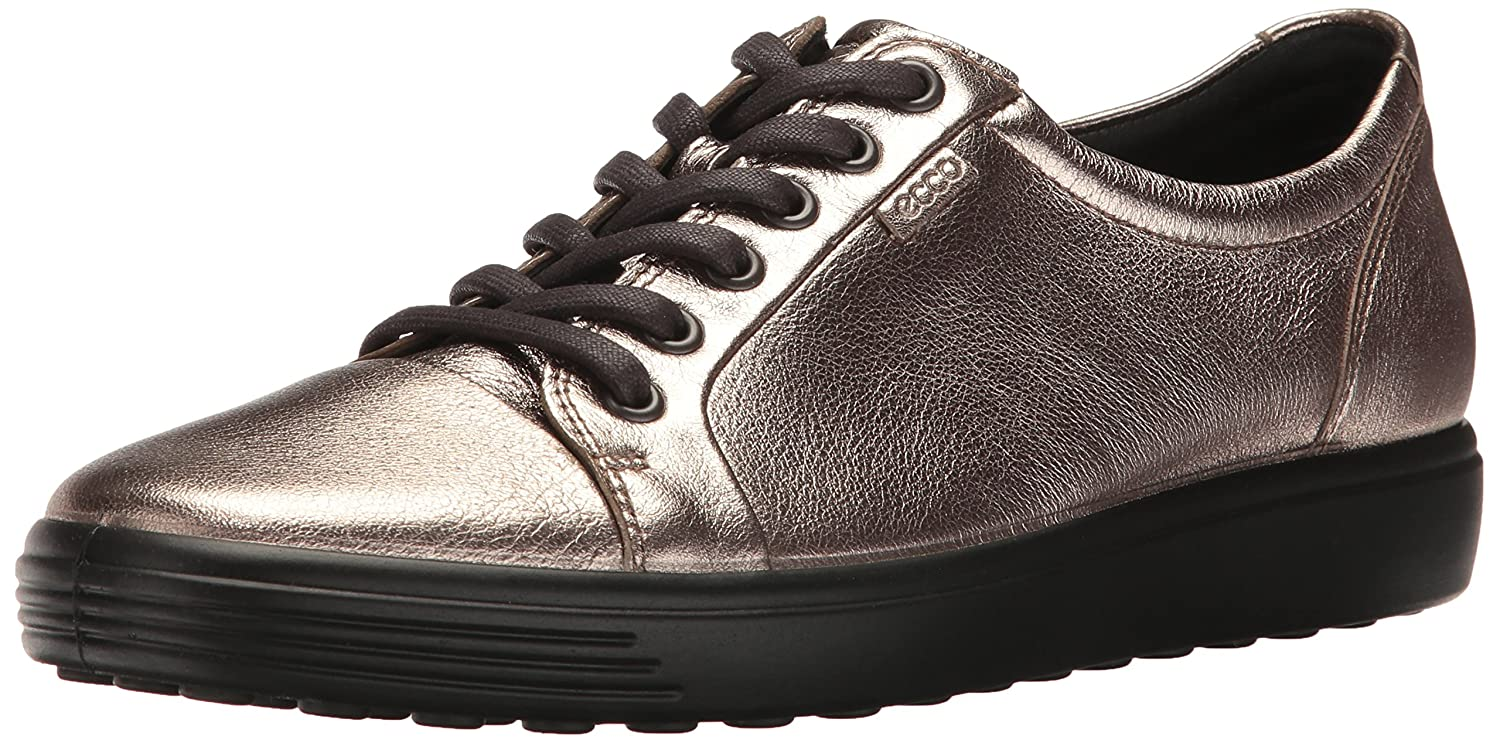 ECCO Women's Soft 7 Fashion Sneaker, B01M28PL7W 38 EU / 7-7.5 US|Warm Grey Metallic