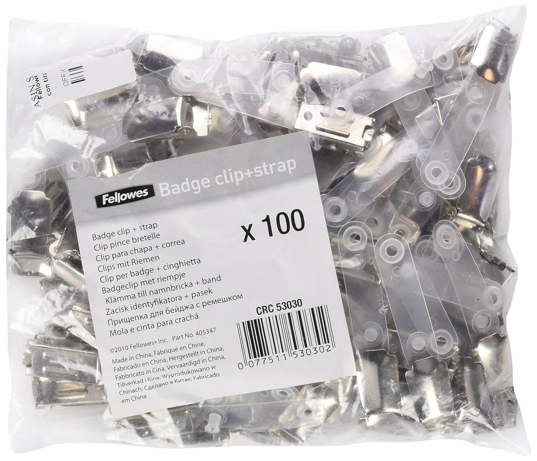 Fellowes 53030-100 clips europeos con tiras 56 x 92 mm