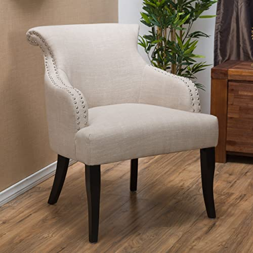 Christopher Knight Home Filmore Fabric Arm Chair, Light Beige