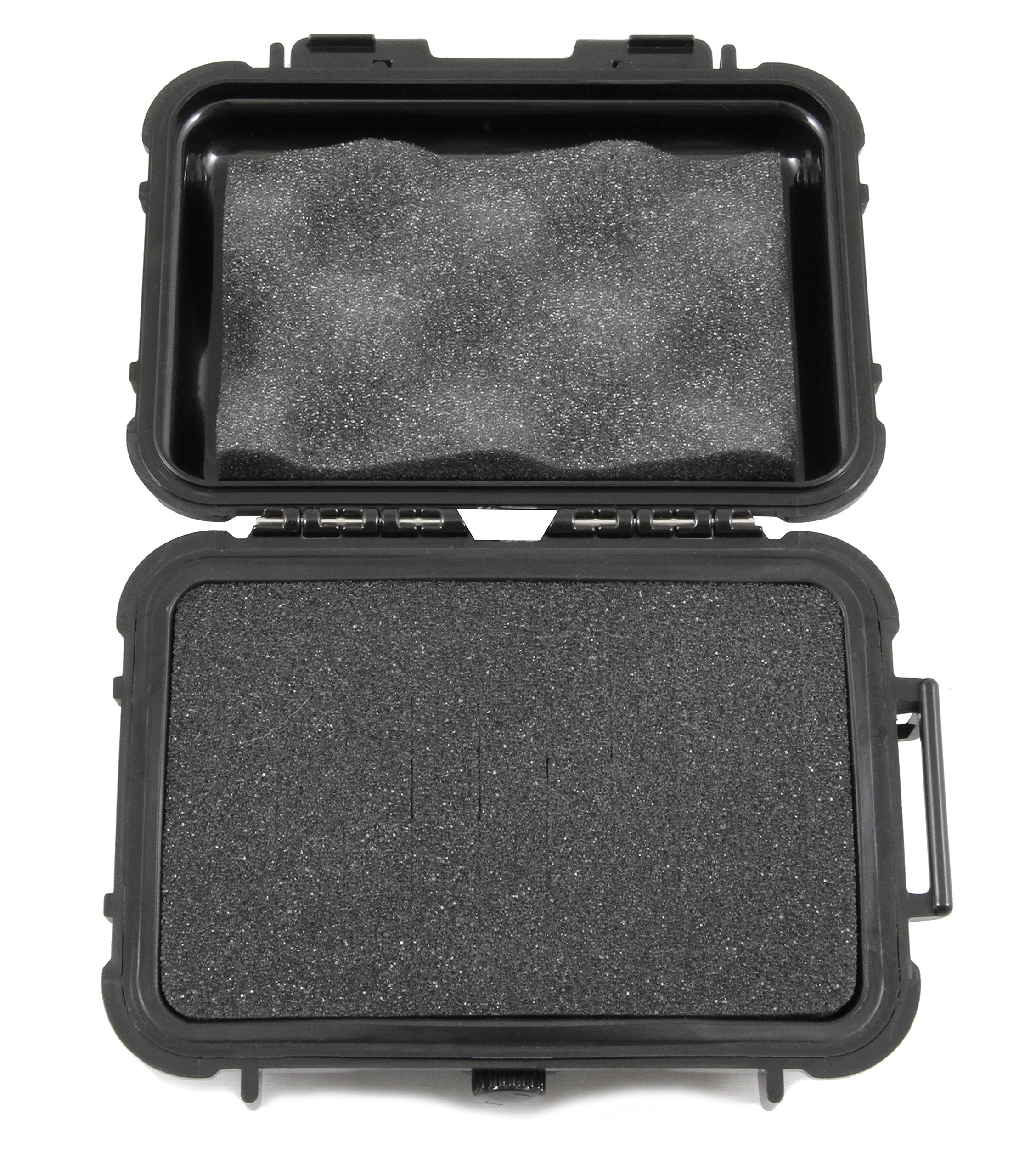 SMOKESAFE Mini Plus Smell Proof 6'' Odor Resistant Case Works as Mini Hookah Pipe Travel Storage Stash Container or Dry Box (6'' Customizable Foam)