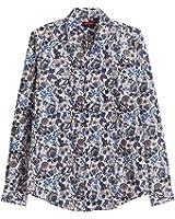 Dioufond Mujeres Camisas de Algodón Manga larga Diseño a Florales Tops Blusas - Trabajo/Verano