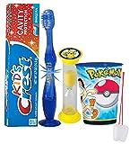 """Pokemon Go"" Inspired 4pc Bright Smile Oral Hygiene Set! Flashing Lights Toothbrush, Toothpaste, Brushing Timer & Mouthwash Rinse Cup! Plus Bonus ""Remember to Brush"" Visual"