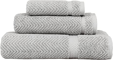 Amazon Com Linum Home Textiles Herringbone 100 Turkish Cotton 3 Piece Towel Set Home Kitchen