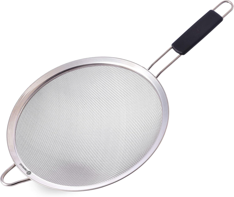 DePraiz Extra-Large Stainless Steel Food Mesh Strainer 9.8