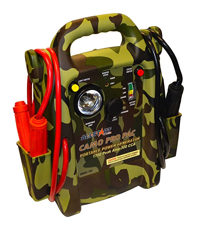 Cal-van Tools Allstart 555 Camo Pro Pac Battery Jump Starter with AC Inverter: Amazon.es: Coche y moto