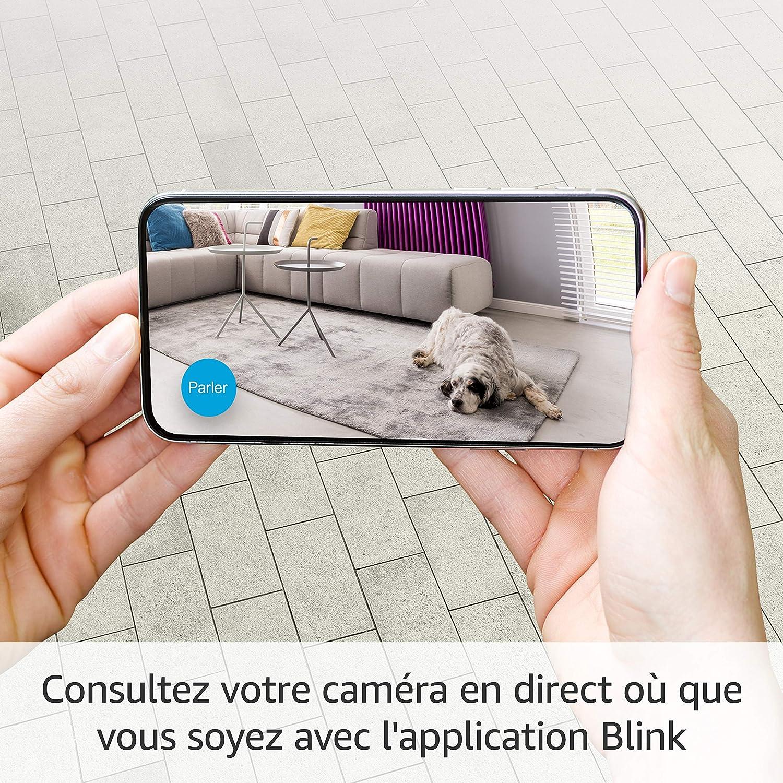 2 Cam&eacu Camra de surveillance dintrieur connecte fonctionne ...