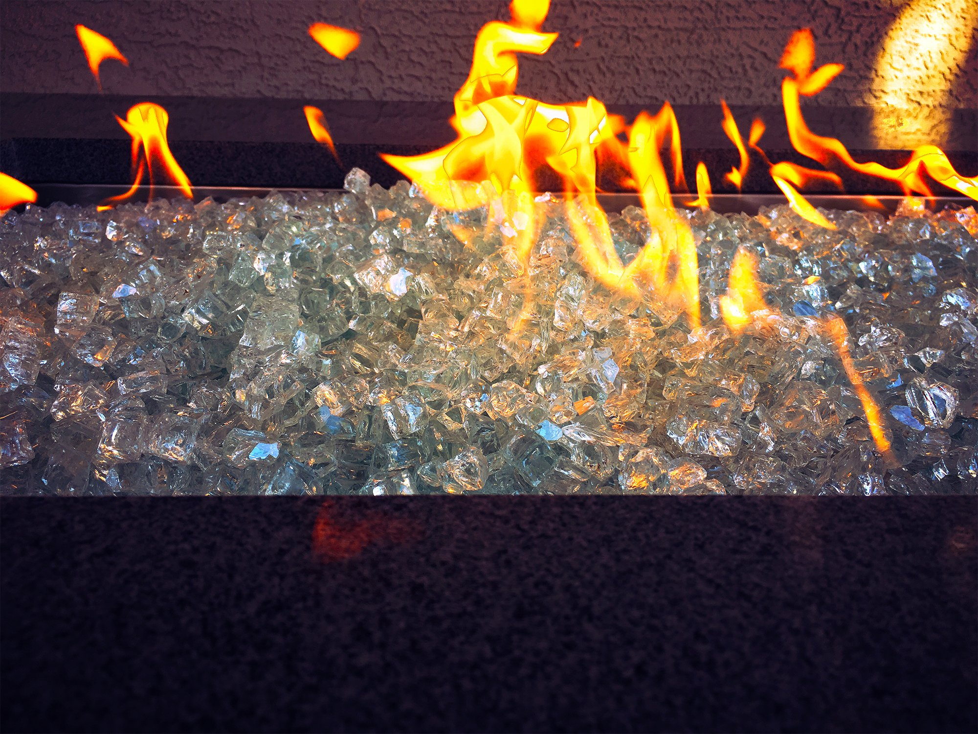 Aquamarine Fire Pit Fire Glass 1/2'' 10lbs