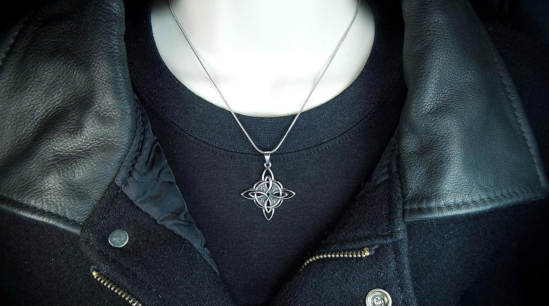 Cimaruta Pendant Witch Tree Folk Magic Charm Moon Heart Jewelry Supplies 33x30mm