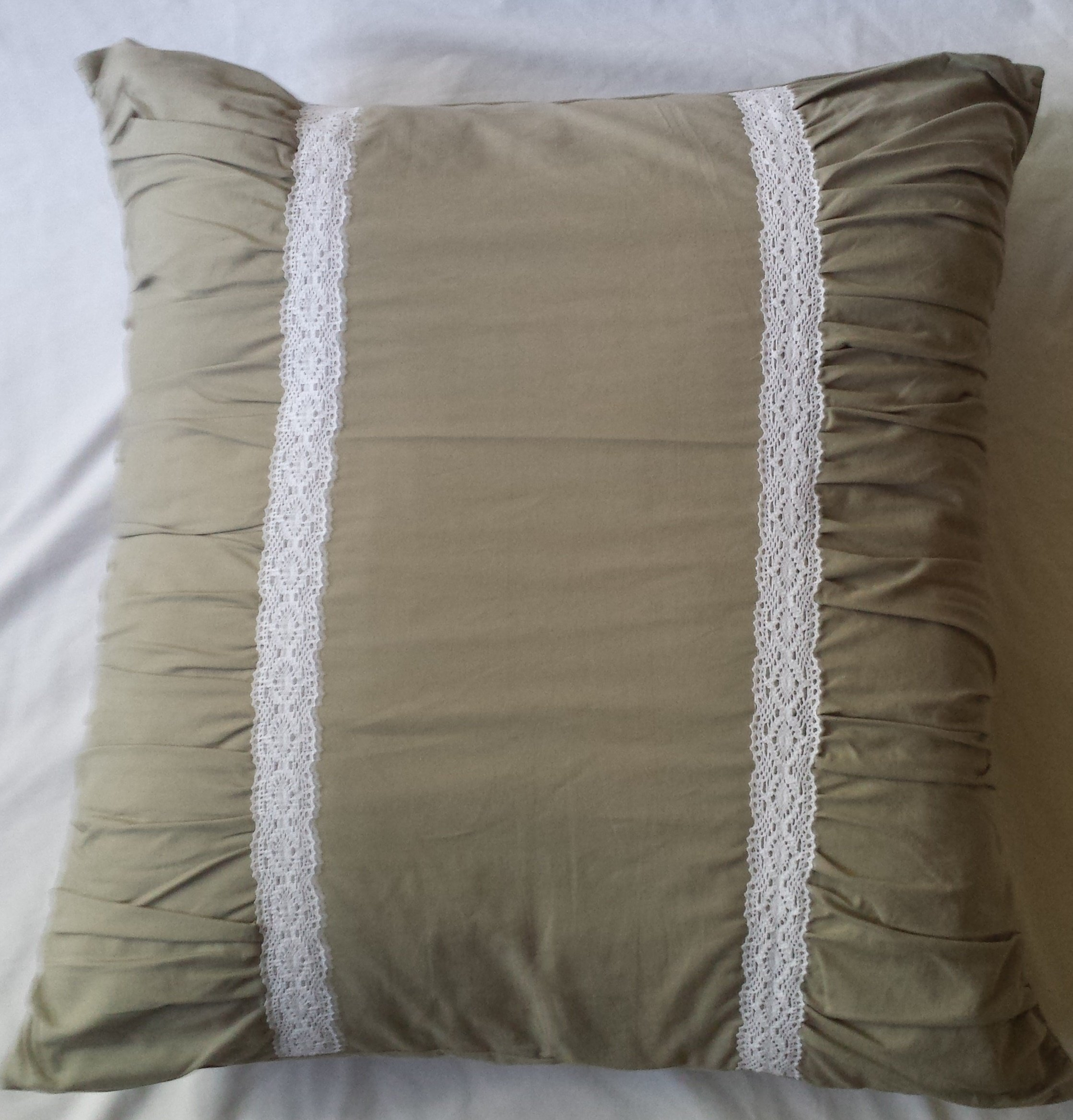Square Pillow Sham Fits 26'' x 26'' Euro Pillow Driftwood Gray: Soft Cotton Design. 1 sham.