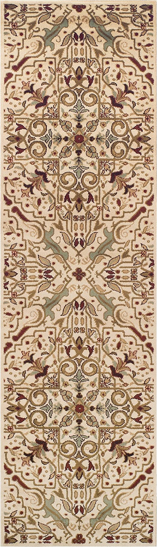 Amazon Com Superior Elegant Camille Collection Area Rug 10mm Pile Height With Jute Backing Intricate Traditional Rug Pattern Anti Static Water Repellent Rugs 2 7 X 8 Runner Furniture Decor