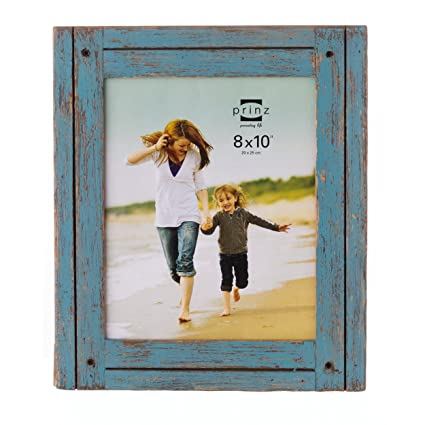 e881d14015c7 Image Unavailable. Image not available for. Color  PRINZ 8x10 Homestead  Distressed Blue Wood Frame