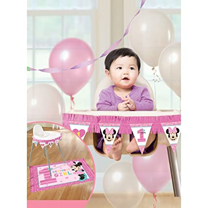 Amazoncom Amscan 1st Birthday Minnie Mouse High Chair Decorating