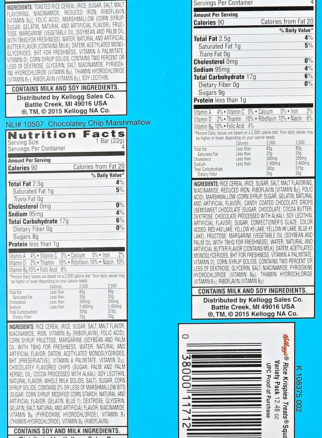 Amazon.com: Kelloggs Rice Krispies Treats Variety Pack, 12.48 Ounce: Prime Pantry