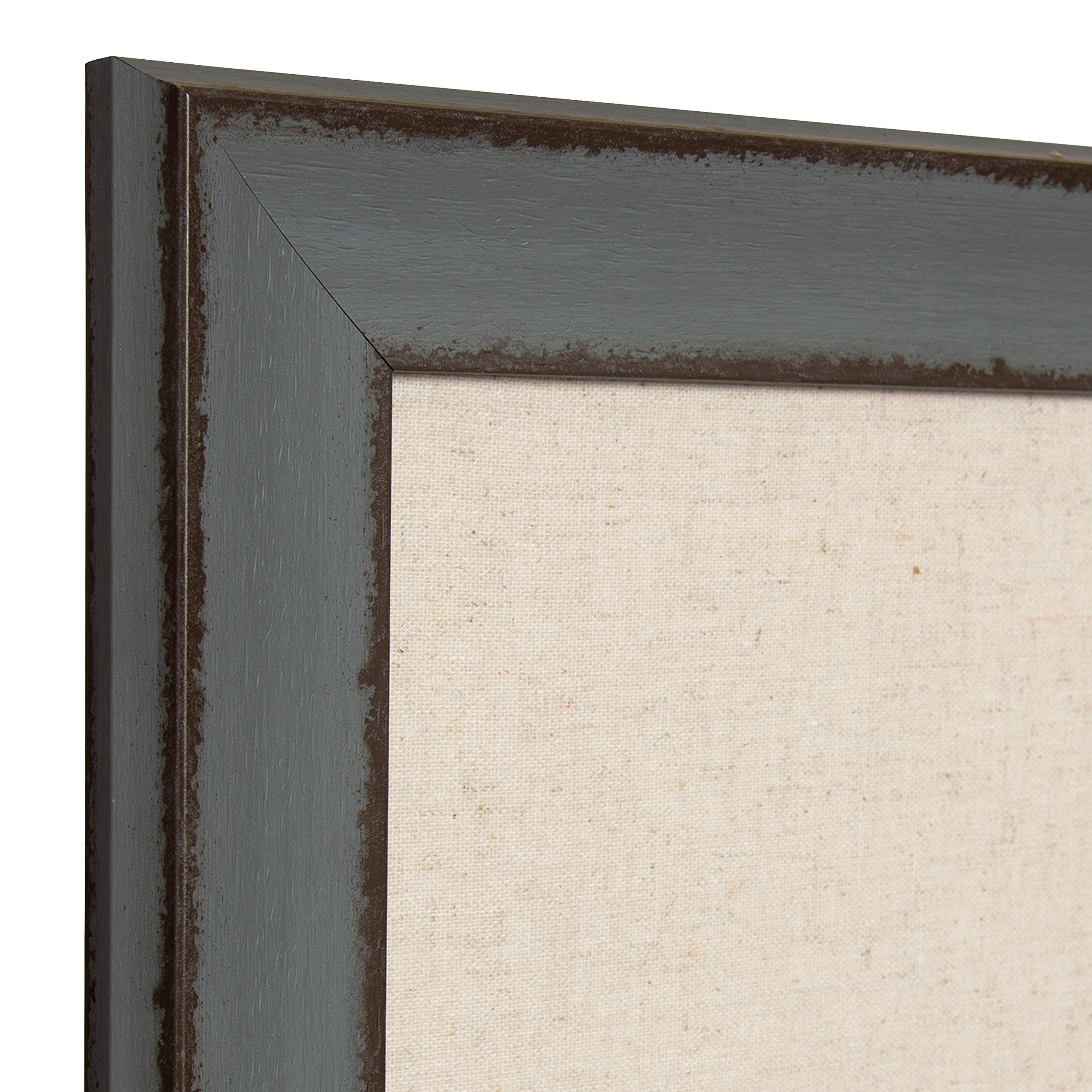 Kate and Laurel Kenwick Framed Linen Fabric Pinboard, 27x33, Gray Green by Kate and Laurel (Image #3)