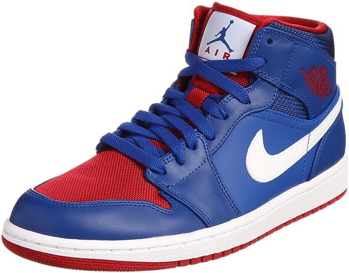 Nike Air Jordan 1 Mid Hombre Azul medio Piel Talla Nuevo