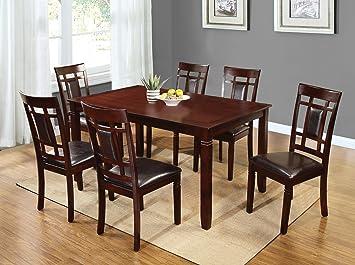 Home Source H 40210 7 Piece Davis Collection Asian Hardwood Dining Set