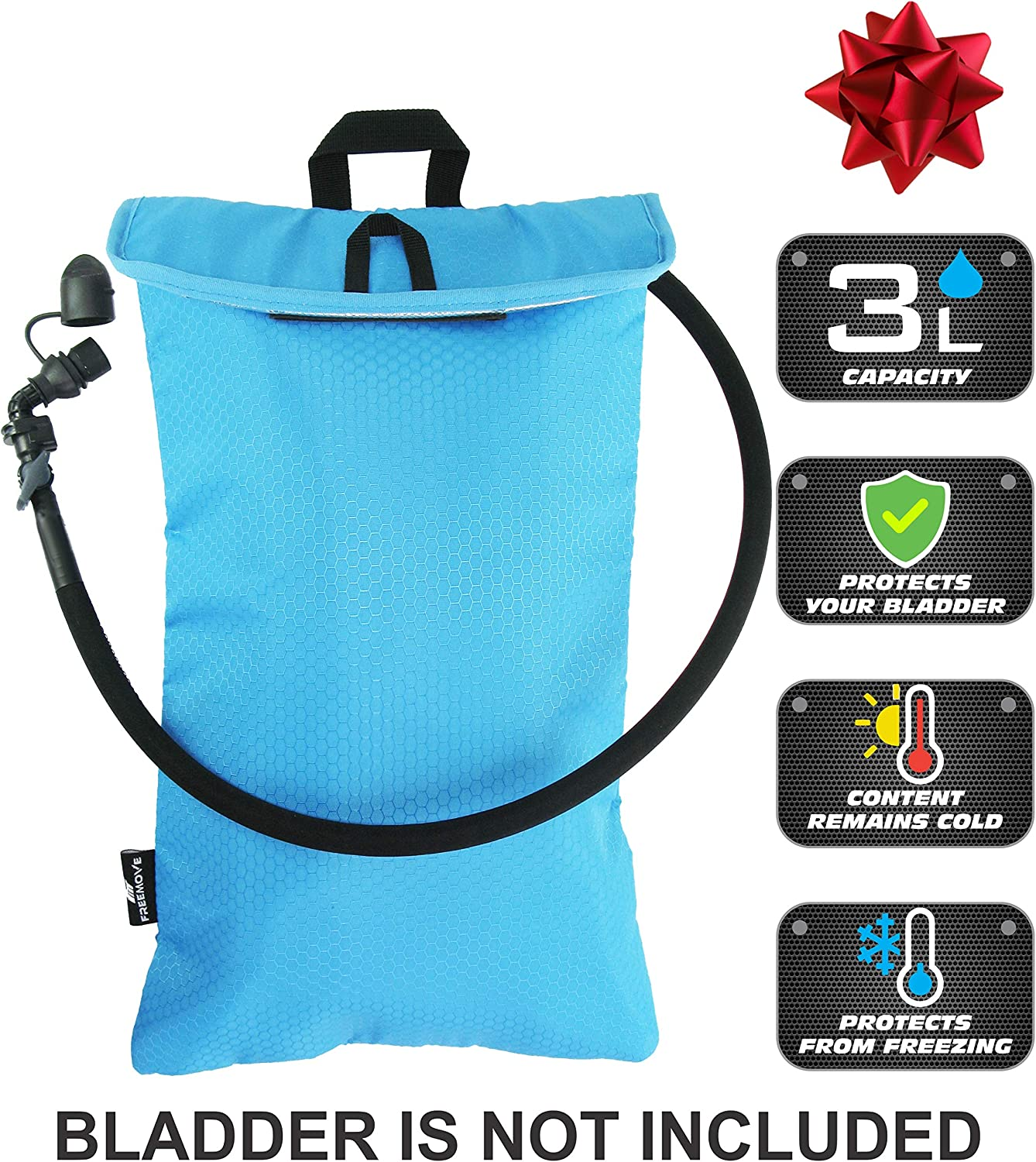 FREEMOVE Cooler Bag & Protective Sleeve for 2L or 3L Hydration Water Bladder | Keeps Water Cool & Protects The Bladder | Lightweight & Water Resistant | Bladder is NOT Included