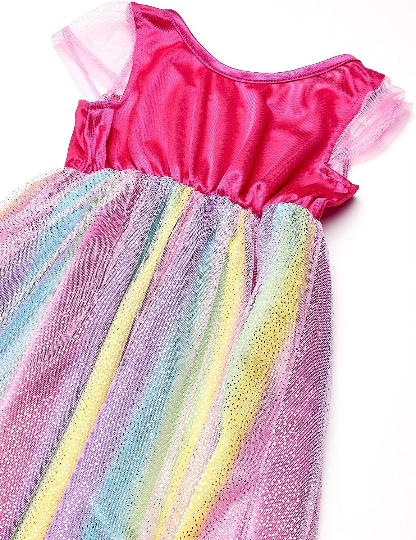 Barbie Girls Rainbow Dress Up Fantasy Gown Nightgown Pajamas