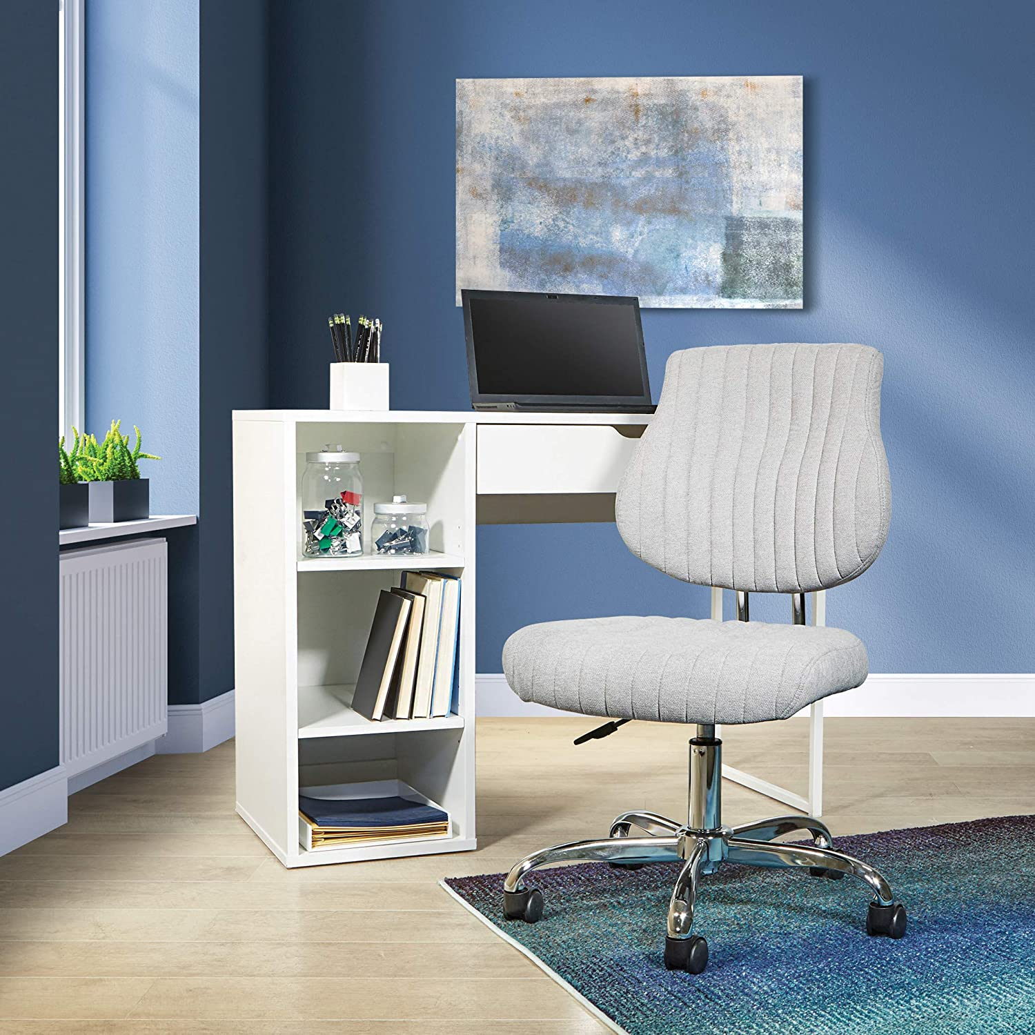 OSP Home Furnishings Sunnydale Office Chair, Lt. Gray