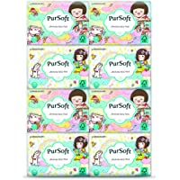 PurSoft Choc Rain 3 Ply Pocket Tissue, 8ct (Pack of 48)