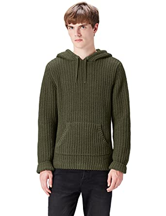 FIND Herren Kapuzenpullover Chunky Wool Look Overhead  Amazon.de  Bekleidung f9370fab5a