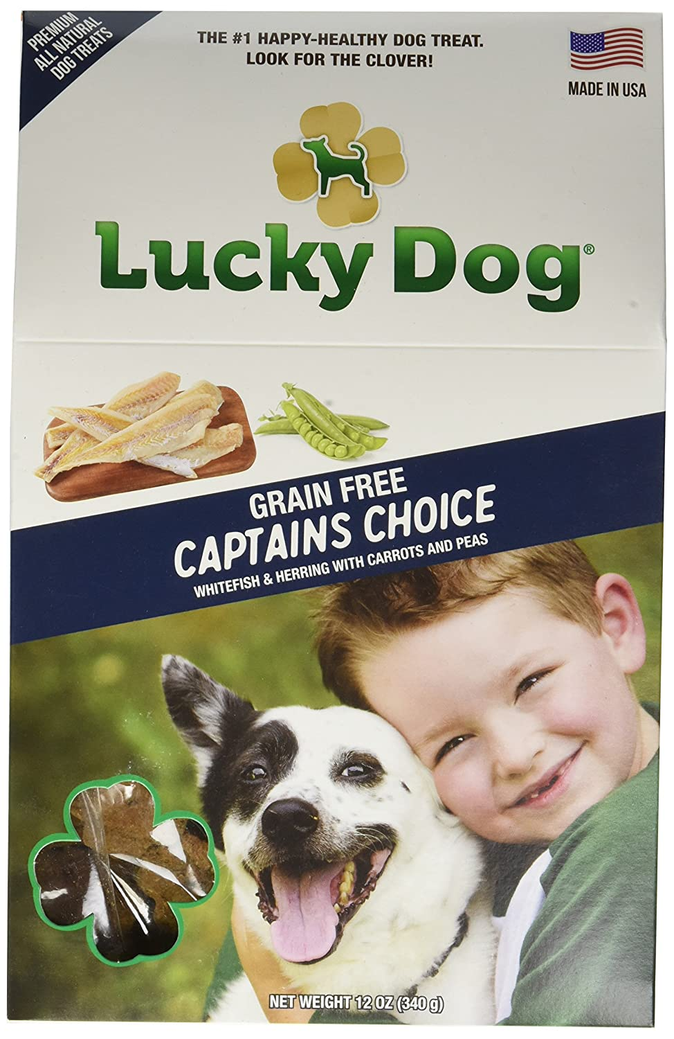 Lucky Dog 5960Ld 1 Piece Grain Free Captain'S Choice Baked Dog Biscuit, 12 Oz