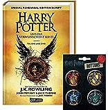 Harry Potter und das verwunschene Kind - Teil 1 & 2 (Special Rehearsal Edition) + 1 original Harry Potter Button