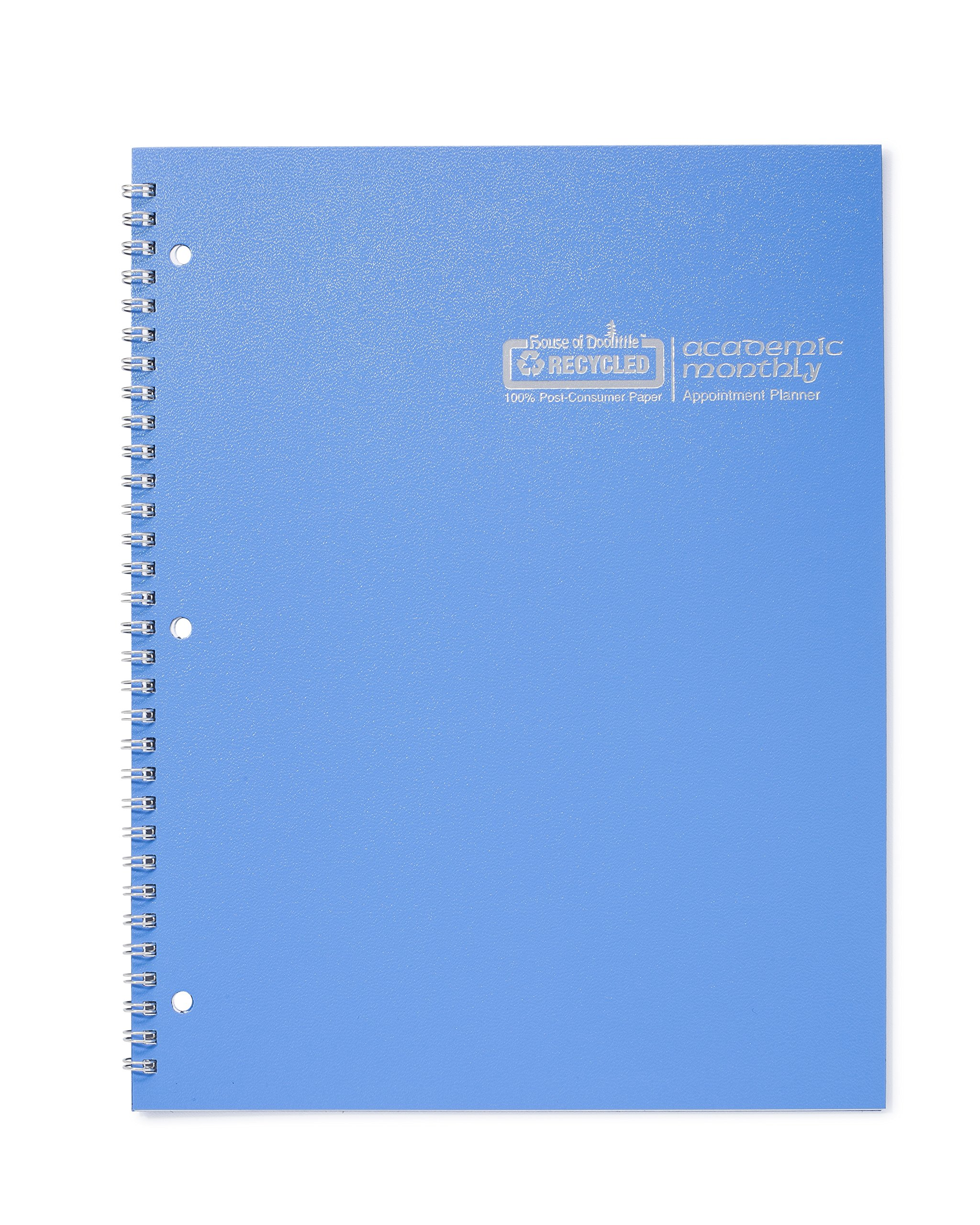 House of Doolittle 2017 - 2018, Planner, Academic, Bright Blue, 8.5 x 11 Inches, July - August (HOD26308-18)