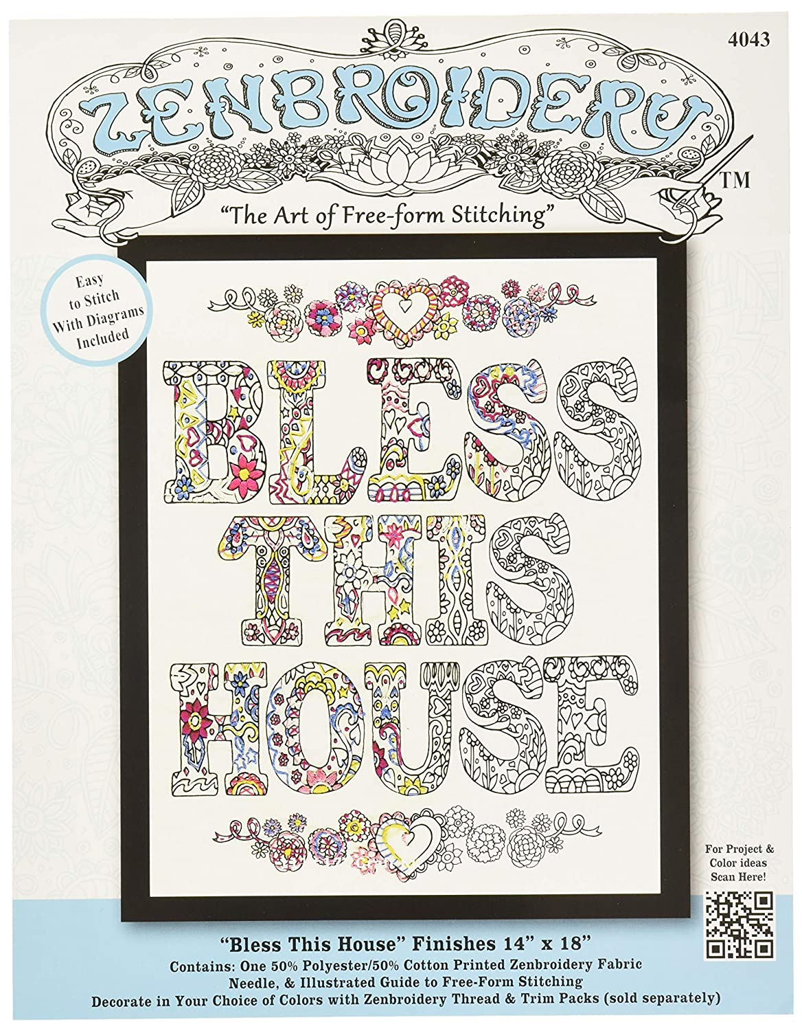 """Design Works//Zenbroidery Stamped Embroidery 12/""""X12/""""-Elephant"""