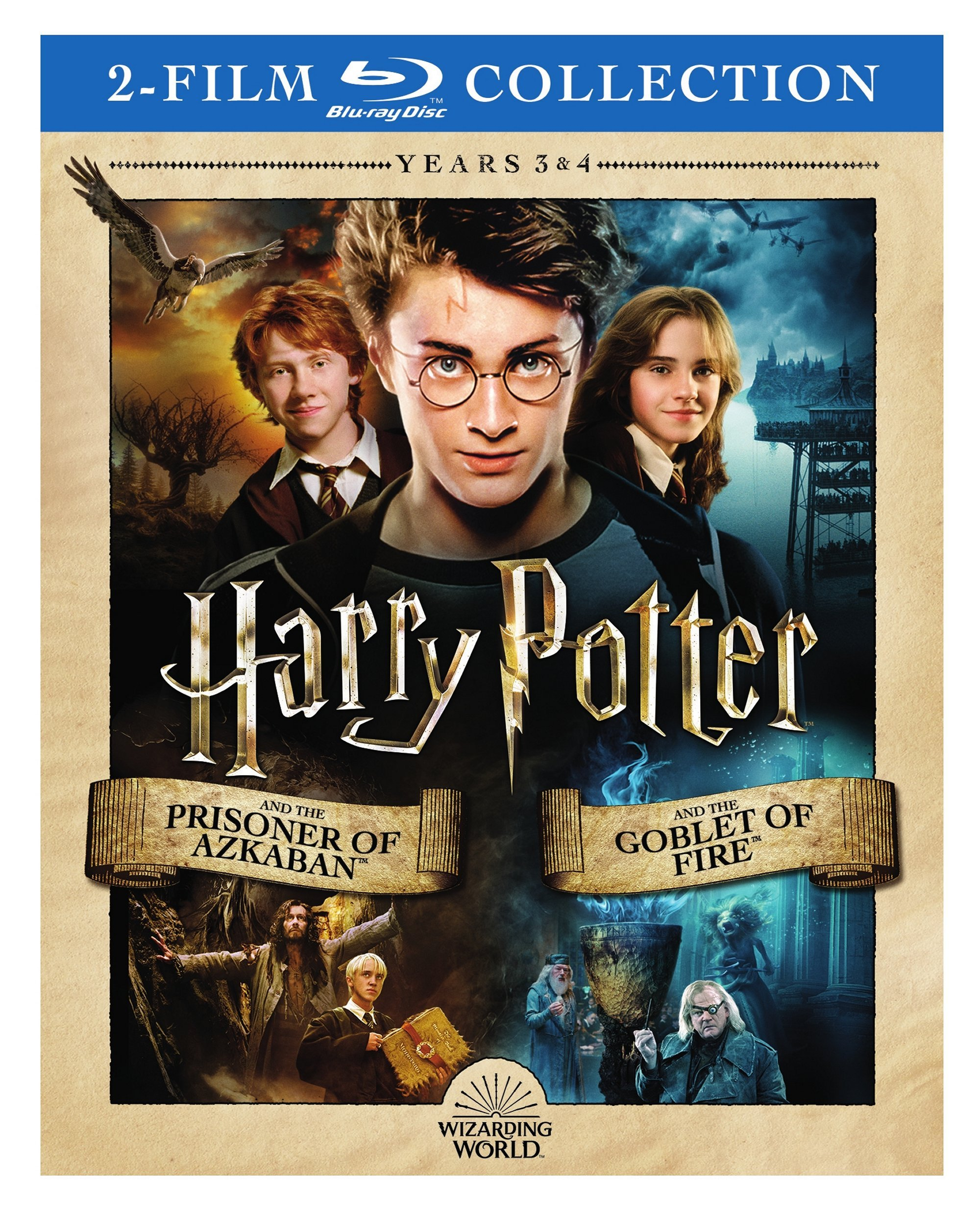 Blu-ray : Harry Potter And The Prisioner Of Azkaban / Harry Potter And The Gobletof Fire (2 Pack, 2PC)