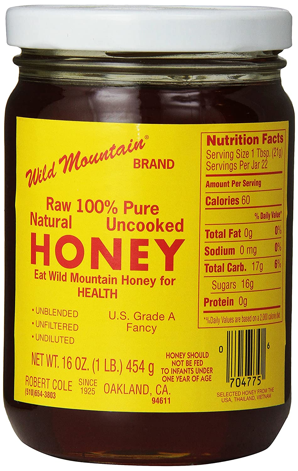 Coles Wild Mountain Honey, 16 oz