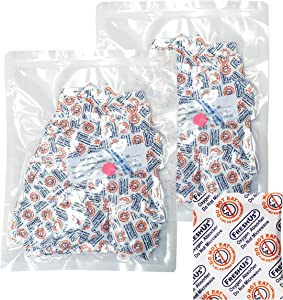AwePackage 100cc Oxygen Absorber(2 Individual packs of 100 Packets, Total 200 Packets) - Long Term Food Storage (200, 100 CC)