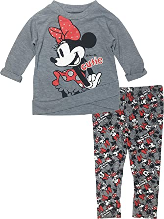 Baby & Toddler Clothing Disney Minnie Long Sleeve Gray And Pink 2t Tops & T-shirts