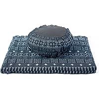 Leewadee Zestaw poduszek do medytacji poszewka zdejmowana i nadająca się do prania okrągła poduszka Zafu i duża…