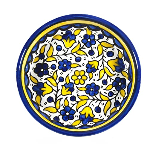 Decorative pottery plate Armenian ceramic hand painted israel old jerusalem gift  sc 1 st  Amazon.com : decorative plates amazon - pezcame.com