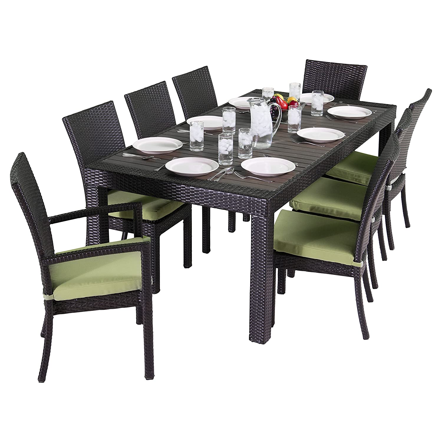 Amazon RST Brands Deco 9 Piece Dining Set with Cushions