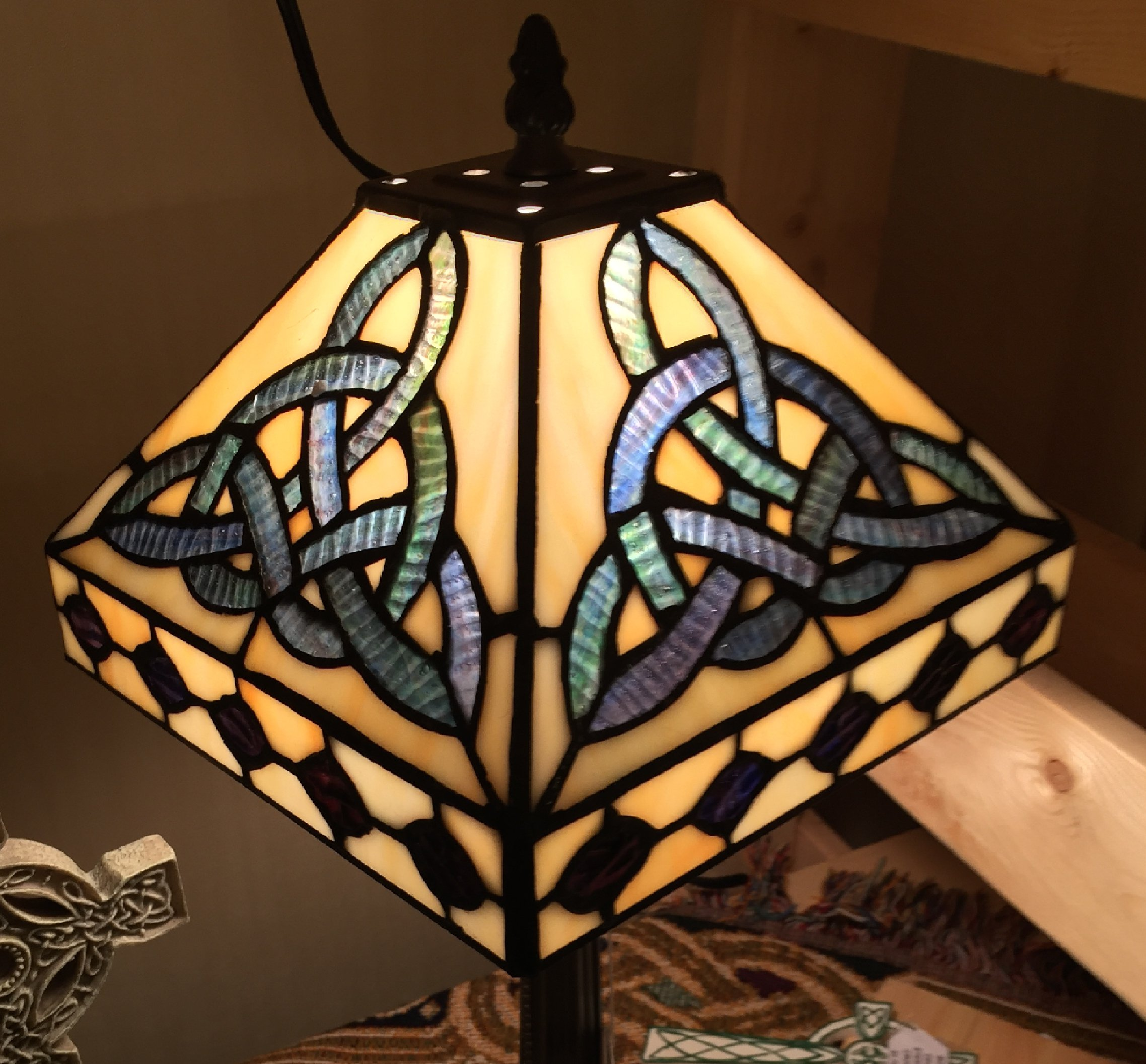 Trinity Lamp Tiffany Style 18'' high. by Bridgets of Erin