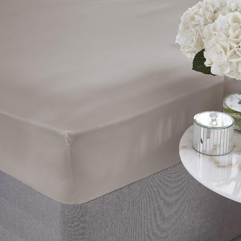 Silentnight, sábana Ajustable de algodón Egipcio, Color Blanco ...
