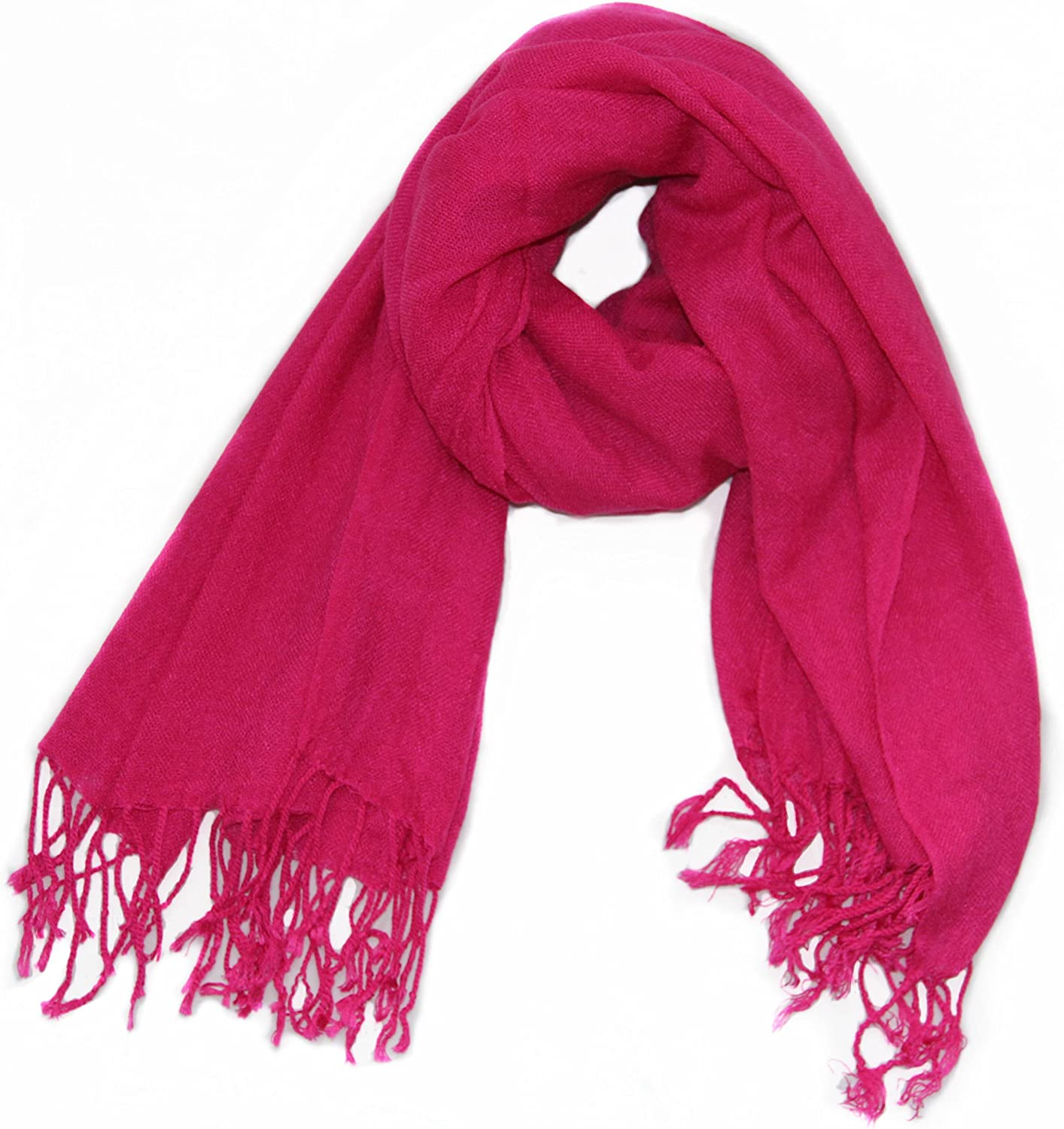 Soophen Pashmina Scarf Beautiful Solid Colors - Red at  Women's Clothing store