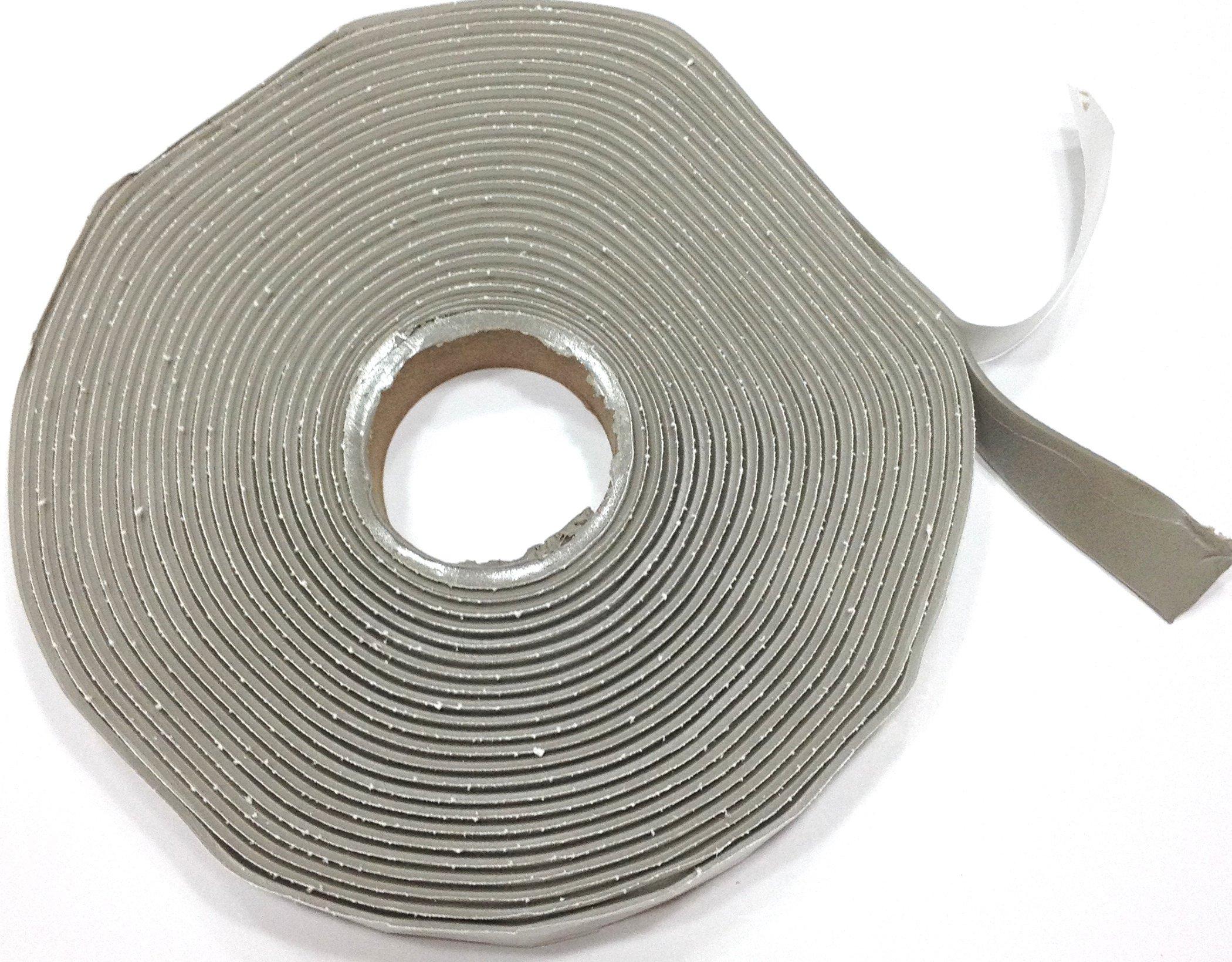 Colorimetrics Gray Putty Tape / Butyl Tape 1/8'' x 3/4'' x 30' (Single Roll)